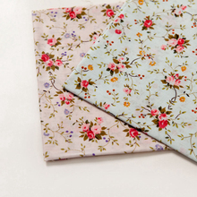 Sweet floral cotton sewing fabrics design 100% cotton cloth spring and summer clothes diy fabric handmade bedding doll clothe