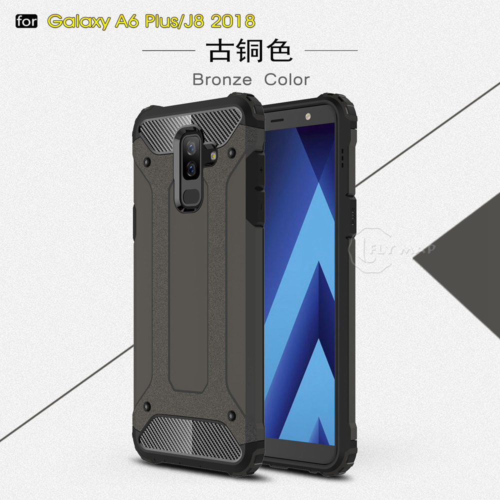 Armor Cover for Samsung Galaxy J8 2018 SM J810 SM-J810F/DS PC Silicon Phone Case for Samsung Galaxy J 8 SM-J810 SM-J810G/DS Case