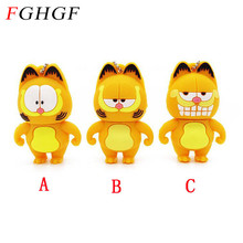 FGHGF Garfield USB Flash Drive 3 styles cat pen drive 4gb 8gb 16gb 32gb pendrives animal memory stick usb creativo gift