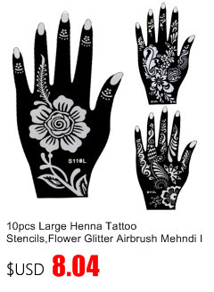 50pcs/lot Black Arabic Tattoos Women Arm Designs,Beautiful Flower Butterfly Waterproof Fake Temporary Tattoo Stickers Wholesale 37