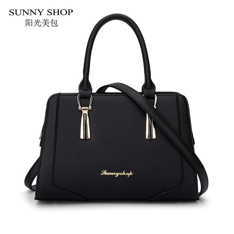 SUNNY SHOP Korean Fashion Ladies Handbags  Designer Sling Bags Women Bag High Quality PU leather Shoulder Bags <br>