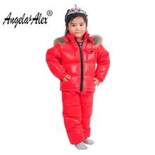 Angela&Alex Winte Jacket Parka Children Winter Baby Girls Clothes Sets Warm Duck Coat Snowwear Baby Boys Clothes
