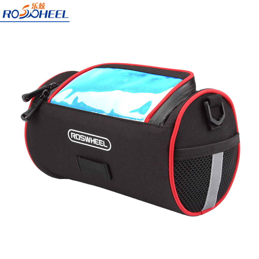 ROSWHEEL Cycling Bicycle Bag Folding Bike Front Handlebar Bicycle Basket Transparent PVC Pouch for Map Outdoor(China (Mainland))