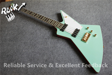 Limited Edition China Bass Guitar 4 Strings Explorer Shaped Electric Guitar Abalone Inlay For Sale