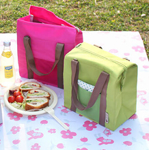 2017 New Portable Insulated  lunch Bag Food Picnic Lunch Bags  Lunch Box Bag Tote Large waterproof thermal insulation  lunch bag
