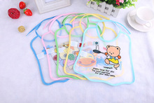 Cartoon baby bib 2017 children new waterproof saliva dripping EVA disposable saliva towel 10pcs Size 24.5*23.5cm