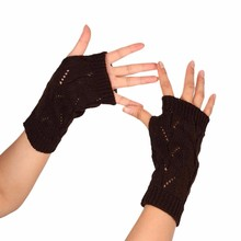 FEITONG 2017 Autumn Winter Women Warmth Knitted Arm Fingerless Gloves Long Stretchy Mitten Men Women Winter Hand Arm Warm Female(China)