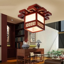 Chinese wood ceiling lamps classical LED corridor lamp Restaurant living room bedroom lamp lighting Ceiling Lights ZA(China)