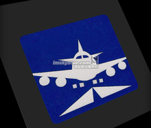 2 colors Sticker Light Reflecting Water Proof Cartoon Airplane Flying  for Luggage Fridge Pilot Flight Crew