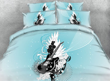 3d bedding queen size bedspread coverlets comforter sheet sets twin full king size woven 500TC musical guitar Rock & Roll Adults