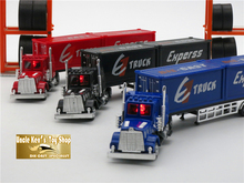 21CM Length Diecast Truck Container Model Car Toys For Boys/Children With Gift Box/Music/Light/Pull Back Function As Gift