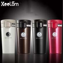 Keelorn High Quality Double Wall Stainless Steel Vacuum Flasks 380ml Thermo Cup Coffee Tea Milk Travel Mug Thermol Bottle(China)