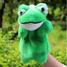 Cartoon Fairytal Early Educational Plush Puppet Toys Frog Hand Puppet Plush Doll Toys For Kids Baby Birthday Christmas Gifts(China)