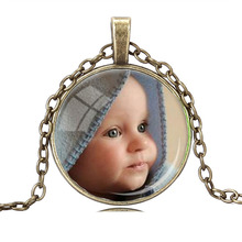 JEPHNE PERSONALIZED PHOTO Custom Necklace For Your Baby Child Mom Dad Grandparent Loved One Any Pic Gift for Family Member Gift(China)