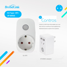 Broadlink SP3 Contros CC SP MINI3 Wireless Smart Power plug Socket 16A /10A Timer Wifi Remote Control for Smart Home IOS Android(China)