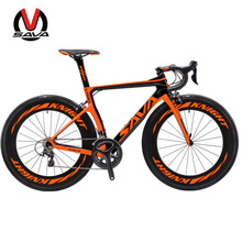 SAVA 700C Road Bike T800 Carbon Fiber Frame Cycling Bicycle SHIMANO Ultegra 6800 22 Speed Bicicleta 88MM Wheelset and 25C Tire