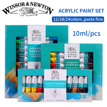 Winsor&Newton Professional Acrylic Paints Set 12/18/24 Colors 10ML Hand Painted Wall Drawing Painting Pigment Set Art Supplies