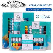 Winsor&Newton Professional Acrylic Paints Set 12/18/24 Colors 10ML Hand Painted Wall Drawing Painting Pigment Set Art Supplies(China)