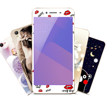 Cychic Tempered Glass Full Cover Screen Protector For One Plus 5 Printing Cute Toughened Film For OnePlus 5 Soft TPU Case(China)