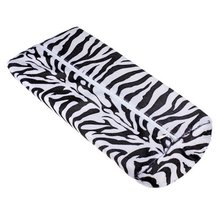 JEYL Hot New Black With White Zebra Stripe Hand Rest Soft Cushion Pillow Nail Art Design Manicure Half Column