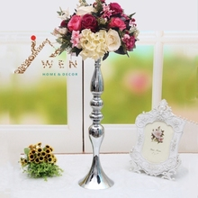 "3 colors! Free shipping 50cm/20"" metal candle holder candle stick wedding centerpiece event road lead flower stands rack vase"