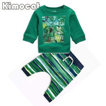 Buy Kimocat Newborn Baby Boys Clothes Set Autumn Baby Boys Clothes T-shirt+Pants 2pcs Baby Set Outfits Suit Infant Clothing Sets for $10.27 in AliExpress store