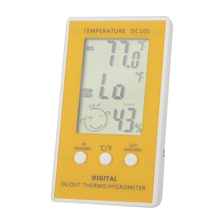 LCD Digital Thermometer Hygrometer Temperature Humidity Meter w/ Wired External Sensor(China)