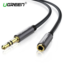 Ugreen Headphone Extension Cable Jack 3.5mm Male to Female Aux Cable Audio Extension Cable 1m 2m 3m 5m for Computer Mobile Phone