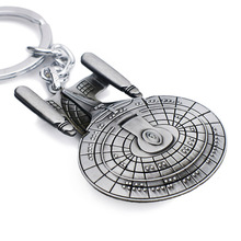 Movie Star Wars key chains holder Trek Spaceship USS Vengeance Replica HD Warships Model Metal KeyRing Keychain K108
