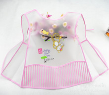 New vest Style Baby EVA Bib waterproof Disposable Bib Kids Bibs Children Pick Rice Pocket Cute Boys And Girls Bibs 4 Color