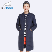 ICEbear 2017 New Autumn Spring Long Jacket Women Coat Padded Cotton Jacket Outwear Warm Parka Women's Clothing 17G203D
