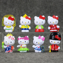 8pcs/set Japan Action Figures Toys Hello Kitty PVC Toys Collectible Model Toys Brinquedos 4.5-5.5cm(China)