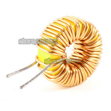Special Offer High Standard 50Pcs/lot 330uH 3A Brass Tone Toroid Core Inductor Coil Wire Wind Wound for DIY