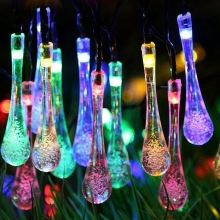 LED String Solar Lamps Water droplets type Waterproof 5 M Garland Christmas Solar Lights for wedding Party Home Decoration