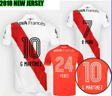 TOP QUALITY 17 18 RIVER PLATE Home jersey soccer TEO D,ALESSANDRO BALANTA CAVENAGHI VANGIONI 2018 red AWAY Football shirt(China)