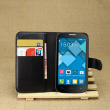 "Luxury Wallet PU Leather Case For Alcatel One Touch Pop C5 OT 5036 5036D 4.5"" Magnetic Filp Cover Fundas Holder Stand Phone Bag"