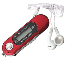 8GB USB 2.0 Flash Drive LCD Mini MP3 Music Player with FM Radio Voice Recorder (Red)(China)