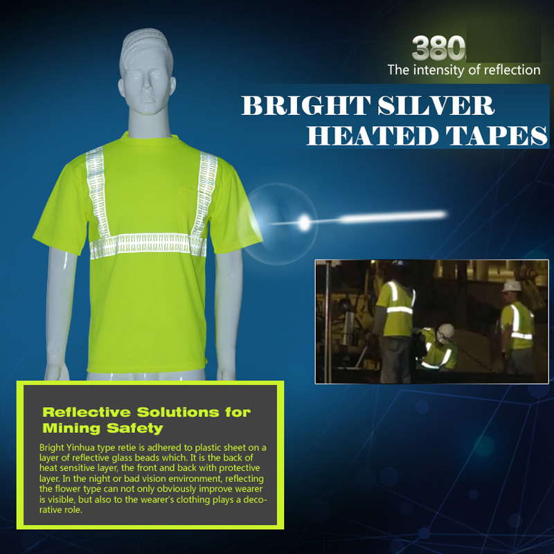 SFVest hi viz  yellow work shirt bright silve breathable work cloth safety reflective t-shirt mining safety shirt free shipping <br>