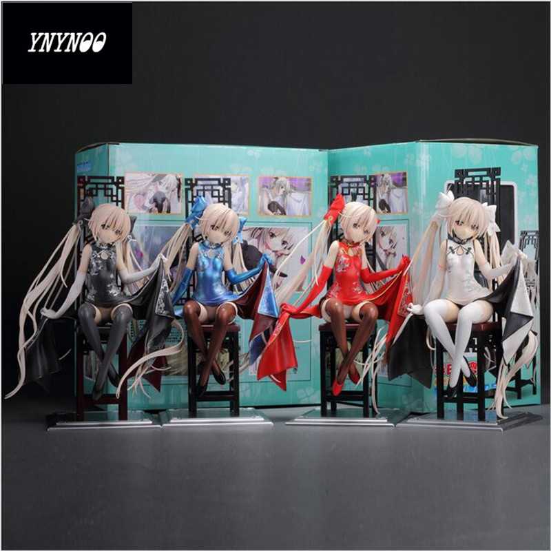YNYNOO Hot sale Japanese Anime fate sky PVC action figures anime Super sexy models with Cheongsam gifts toys 22cm<br>