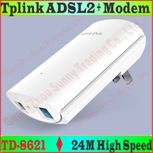 TP-Link Super Mini 24M High Speed DSL Internet Modem ADSL 2+ with LAN Port 1 ethernet cable 1 ADSL Splitter 2 Telephone Lines(China)