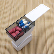 1PC Hot Tablet Pill Medicine Crusher Grinder Grind Splitter Cutter Safe Organize Box Home Travel Use(China)