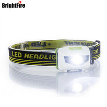 H3 High quality 4 Mode headlamp Waterproof LED Headlight Flashlight white + red light Head lamp Torch light(China)