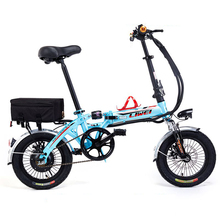"14"" 250W  8~28AH Lithium Battery Bike, Mini Folding Electric Bike, Electric Bicycle, Ebike, Double Damper, Lightweight"