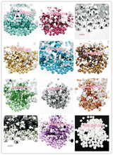Lucia crafts Multi colors option 4mm 1000pcs SS16 Flatback Resin Rhinestones DIY Mobile Phone Nail Art Sticker 12030401(1000)