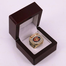 US size factory wholesale price NFC 2006 Chicago Bears championship ring replica solid ring wooden box drop shipping