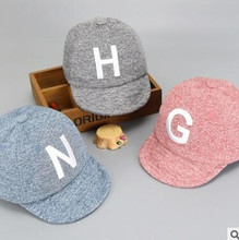 YiWu Spring Autumn The Newest Brief Style Letter Baby Baseball Caps Turn Up Children Winter Hats Kids Peaked Caps(China)