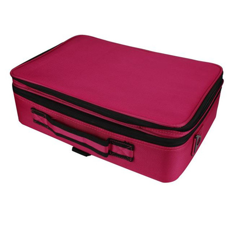 2017 popular pro Cosmetic Beauty Queen Three Portable Professional Makeup Cosmetics Cases Toolbox gift wholesale A3000<br>