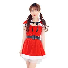 Creative Especially Women Sexy Santa Christmas Costume Fancy Dress Xmas Office Party Outfit cheap clothes china vestidos mujer(China)