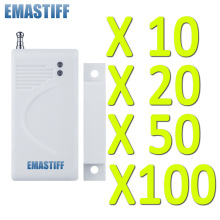 Free shipping White 10/20/50/100 pcs wireless Door magnetic sensor High quality new Home Burglar GSM Security Alarm System(China)
