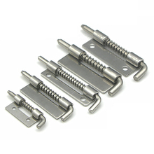 Stainless Steel 304 Spring Hinge Industrial Cabinet Flat Welding CL Distribution Cabinet Spring Bolt Hardware(China)